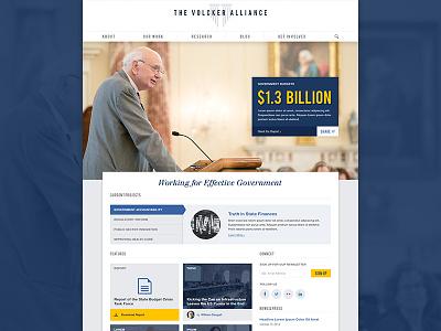 The Volcker Alliance - Homepage homepage alliance volcker web website