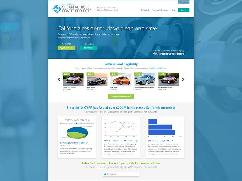 Clean Vehicle Rebate >> Clean Vehicle Rebate Project By Michael Ferry On Dribbble