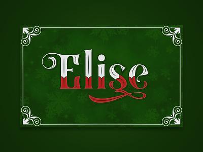Elise (Xmas 2019) blackletter christmas holiday typography