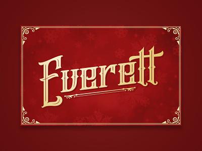 Everett (Xmas 2019) blackletter christmas holiday typography