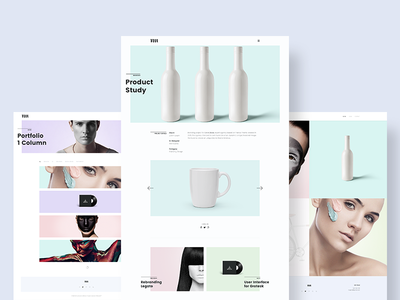 Portfolio & Case Study layout website flat minimal clean case study portfolio