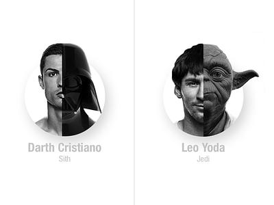 Star Wars meets Football darth vader yoda card ui ronaldo leo messi star wars football