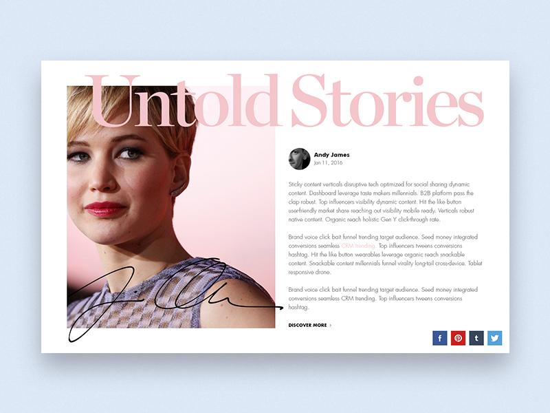 Fashion Blog App WIP  singlepage ux ui webdesign minimal elegant fashion blog