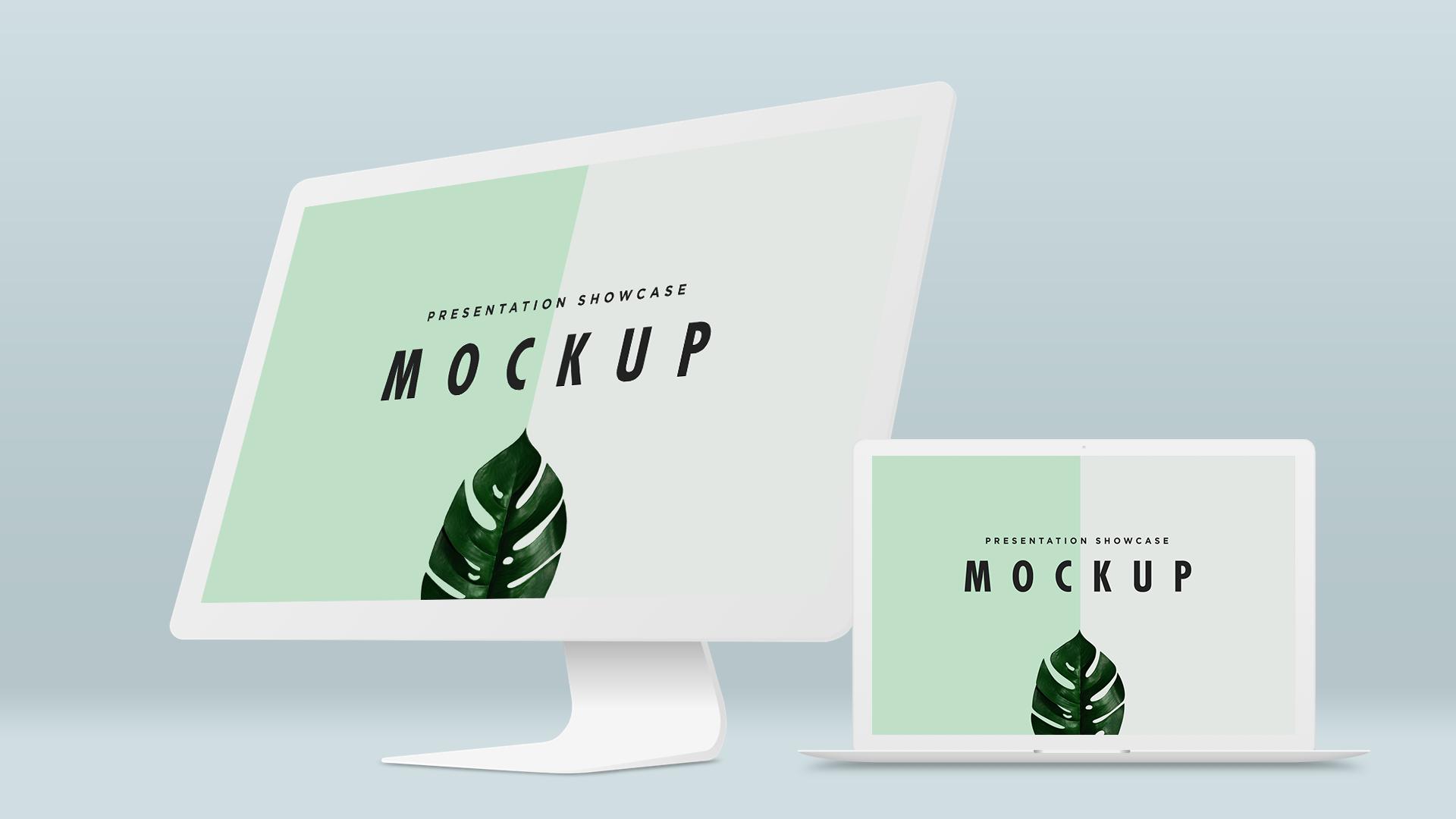 Dribbble Macbook Pro Imac Mockup Template Png By Abdullah Md Ishmam