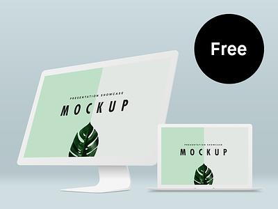 Free Macbook Pro & iMac Mockup Template mockup freebie free mac macbook
