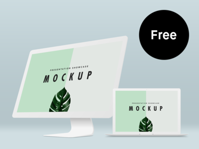 Free Macbook Pro & iMac Mockup Template mockup freebie free mac macbook