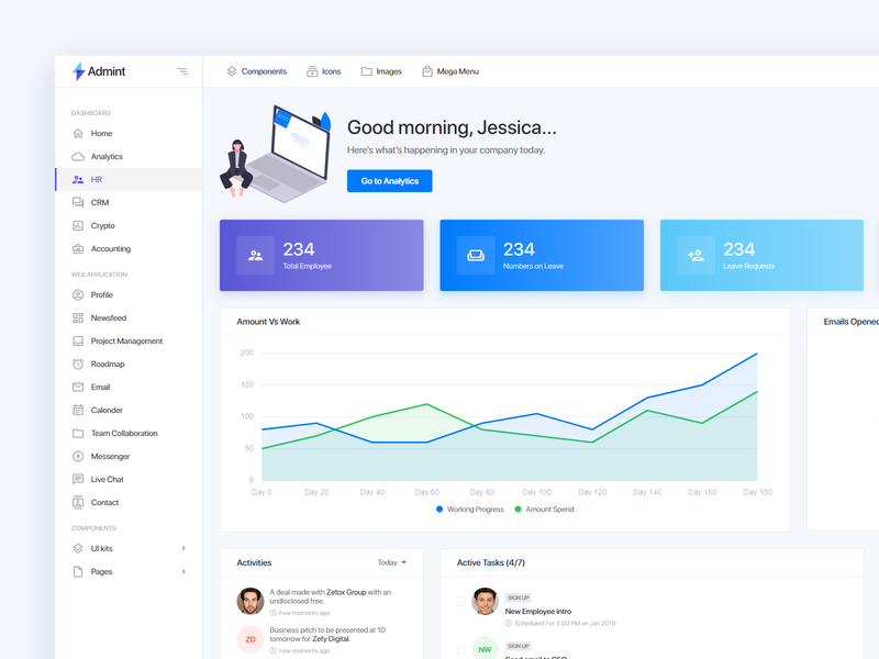 Admin Dashboard UX for HR & Payroll ux uiux product design employee payroll hr template dahsboard admin user experience user interface ux design uxdesign ui