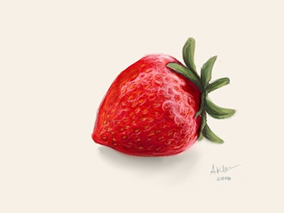 Strawberry freehand drawing illustration