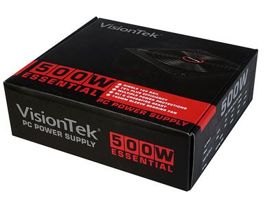 VisionTek 500W Power Supply print packaging packaging design