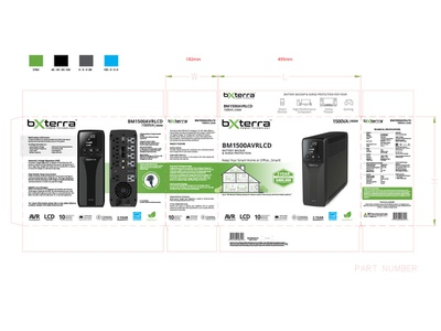Bxterra Bm1500 Pack print packaging design