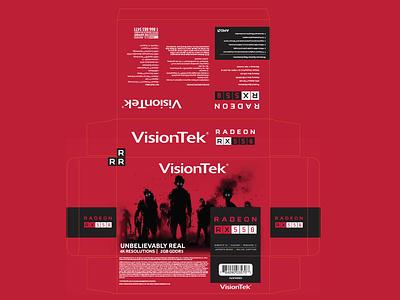 Visiontek Rx550 Packaging package design