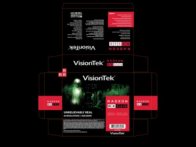 Visiontek Rx560 Packaging illustration packaging design