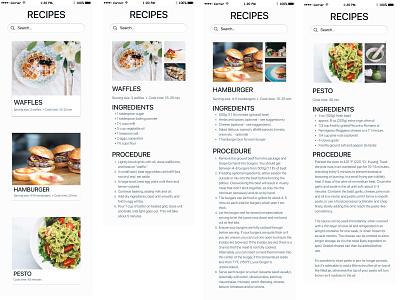 Recipe App - hi-quality prototype prototype figma ux design