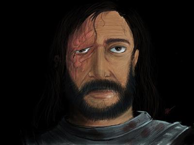 The Hound freehand illustration