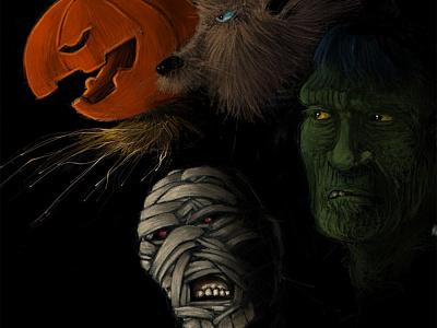 monster squad illustration