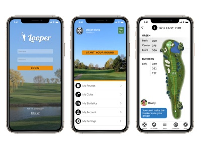 Looper, Game improvement and Caddie app design