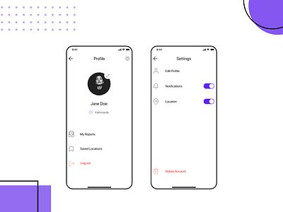 Minimal user profile clean design clean ui ui minimal ui adobexd mobile ui ux uidesign profile mobile app ui  ux mobile minimal