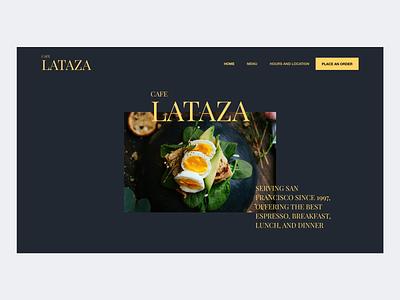 Cafe Lataza Landing Page (Concept) minimal landing page web design cafe logo food landing page ui cafe landing design