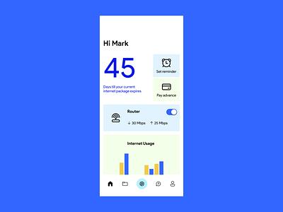 ISP Management App design app minimal ui minimal blue ui design iphone11 internet ux uiux ui