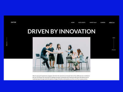 About us Page for a Startup 🏢 about page about startup branding clean ui clean simple clean interface simple black blue startups startup minimal uiux web design design minimal ui ux ui
