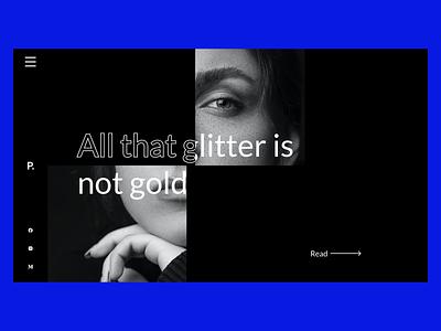 Website Concept for a Poet ✍ social media clean ui clean poems squares squared shapes abstract black grid blog poem uiux minimal web design design minimal ui ux ui