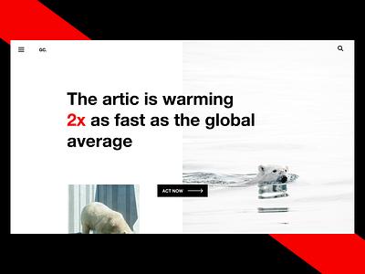 The Arctic is Warming | Case Study Exploration exploration red arctic black clean ui clean uiux minimal minimal ui web design design ux ui