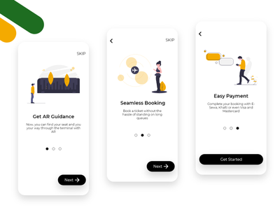 Yeti Airlines AR App Onboarding undraw adobexd adobe xd illustrations onboarding screens onboarding airlines