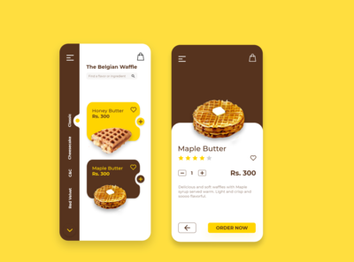 The Belgian Waffles App Concept