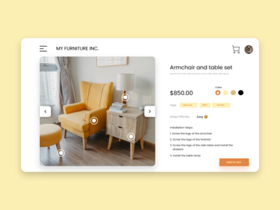 Furniture Web Application