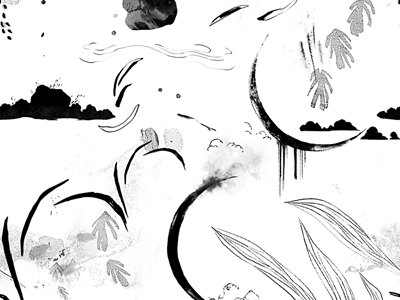 Dawn grayscale pattern moonlight leaves textures