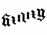 Utility ambigram