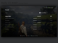 Daily UI #7 - Settings Menu