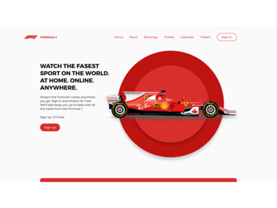 Formula 1 streaming concept