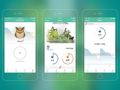 ROOT App screens ios iphone app