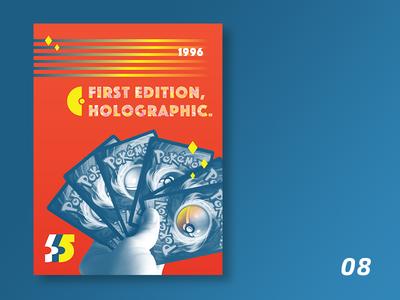 90s boy | 08 pokemon typography print poster