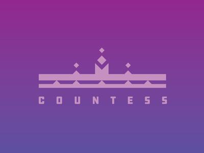 Countess mark logo icon crown