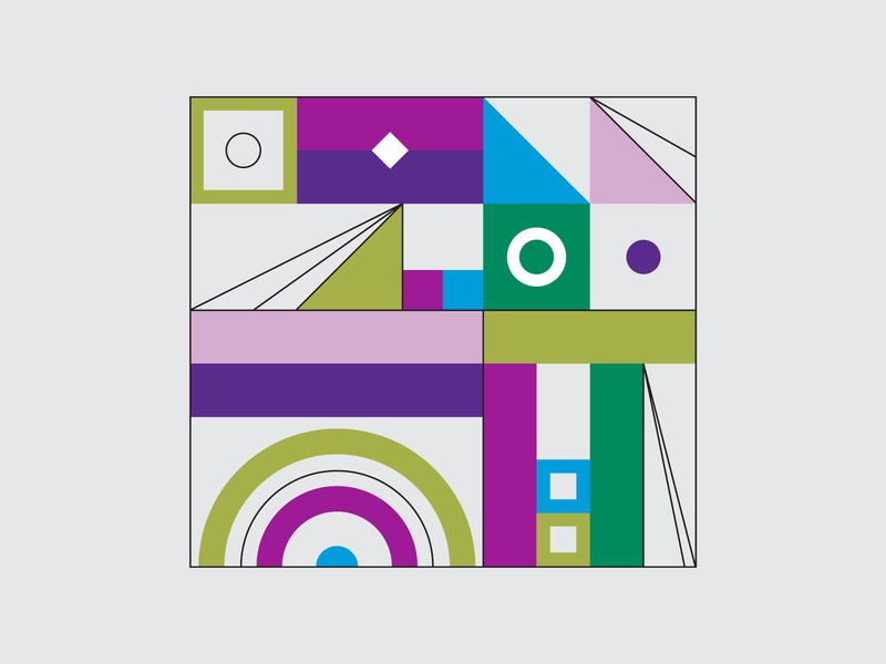 Shapes shapes modern illustration wall graphics geometric