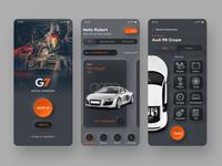 G7 - App for Mechanics dark theme product design ux ui mechanics handbook design automotive app