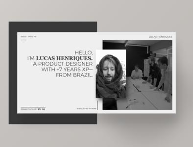 Personal Portfolio 2019 webflow website portfolio site ux ui design