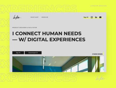 Personal Portfolio 2020 product designer website webflow portfolio site ux ui design