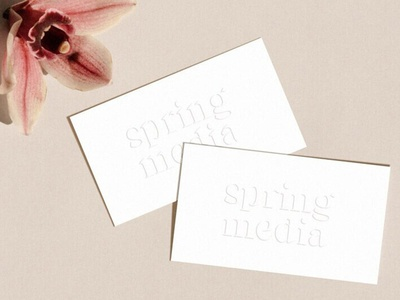 Spring Media Business Cards Letterpress