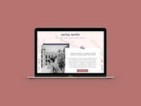 Spring Media Site Design