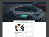 Toyota Dealer Landing Lead Page