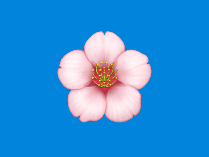 🌸 Cherry Blossom – U+1F338
