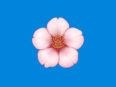 🌸 Cherry Blossom – U+1F338 sakura cherry blossom flower facebook flower emoji emoji flower icon flower illustration icon