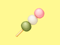 🍡 Dango – U+1F361 hanami dango dango dumpling food facebook food emoji emoji food icon food illustration icon