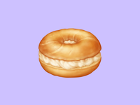 🥯 Bagel – U+1F96F breakfast cream cheese bagel snack food emoji emoji food icon food illustration icon