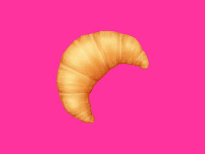 🥐 Croissant – U+1F950 breakfast croissant pastry snack food emoji emoji food icon food illustration icon