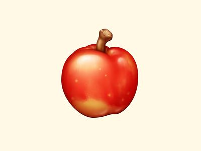 Apple apple acnh fruit animal crossing food icon food illustration icon
