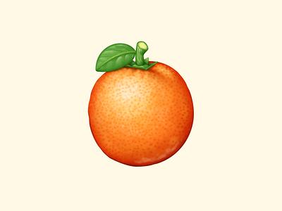 Orange citrus orange acnh fruit animal crossing food icon food illustration icon